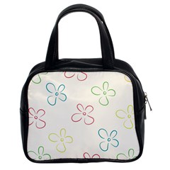 Flower Background Nature Floral Classic Handbags (2 Sides)