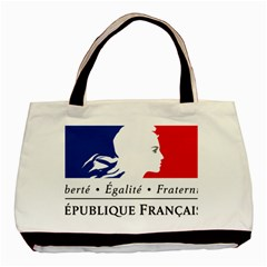 Symbol of the French Government Basic Tote Bag (Two Sides)