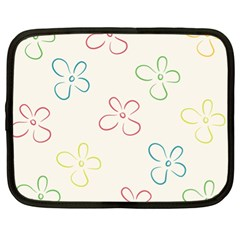 Flower Background Nature Floral Netbook Case (XL)