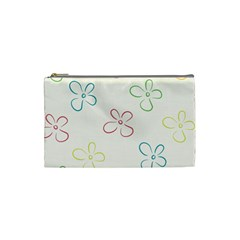 Flower Background Nature Floral Cosmetic Bag (small)