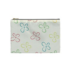 Flower Background Nature Floral Cosmetic Bag (Medium)