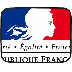 Symbol of the French Government Double Sided Fleece Blanket (Mini)