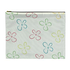 Flower Background Nature Floral Cosmetic Bag (xl)