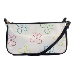Flower Background Nature Floral Shoulder Clutch Bags