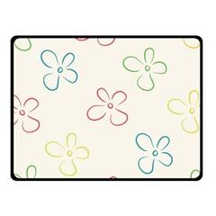 Flower Background Nature Floral Fleece Blanket (small)