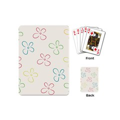 Flower Background Nature Floral Playing Cards (mini)