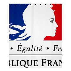Symbol of the French Government Shower Curtain 60  x 72  (Medium)