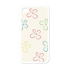 Flower Background Nature Floral Apple iPhone 4 Case (White)