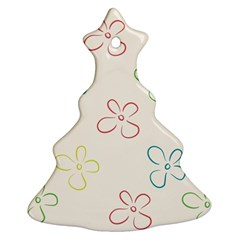 Flower Background Nature Floral Christmas Tree Ornament (two Sides)