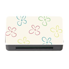 Flower Background Nature Floral Memory Card Reader with CF
