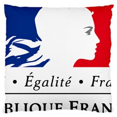 Symbol of the French Government Large Cushion Case (One Side)