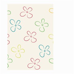 Flower Background Nature Floral Small Garden Flag (two Sides)