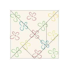 Flower Background Nature Floral Acrylic Tangram Puzzle (4  x 4 )