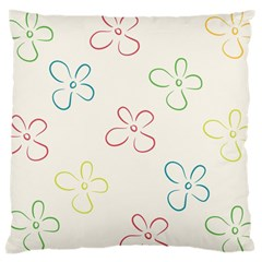 Flower Background Nature Floral Large Cushion Case (One Side)