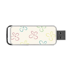 Flower Background Nature Floral Portable USB Flash (One Side)