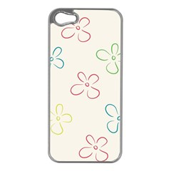 Flower Background Nature Floral Apple iPhone 5 Case (Silver)