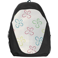 Flower Background Nature Floral Backpack Bag
