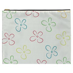Flower Background Nature Floral Cosmetic Bag (XXXL)