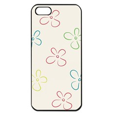 Flower Background Nature Floral Apple iPhone 5 Seamless Case (Black)
