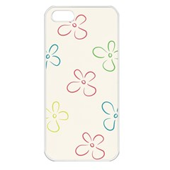 Flower Background Nature Floral Apple iPhone 5 Seamless Case (White)