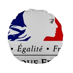 Symbol of the French Government Standard 15  Premium Round Cushions
