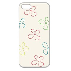 Flower Background Nature Floral Apple Seamless iPhone 5 Case (Clear)