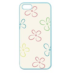 Flower Background Nature Floral Apple Seamless iPhone 5 Case (Color)