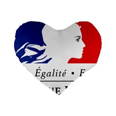 Symbol of the French Government Standard 16  Premium Heart Shape Cushions