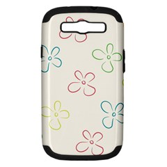 Flower Background Nature Floral Samsung Galaxy S III Hardshell Case (PC+Silicone)