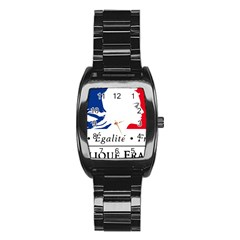 Symbol of the French Government Stainless Steel Barrel Watch