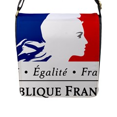 Symbol of the French Government Flap Messenger Bag (L)
