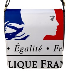 Symbol of the French Government Flap Messenger Bag (S)