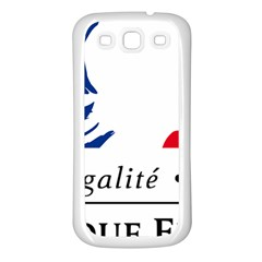 Symbol of the French Government Samsung Galaxy S3 Back Case (White)