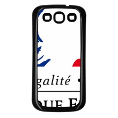 Symbol of the French Government Samsung Galaxy S3 Back Case (Black)