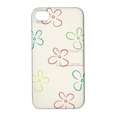 Flower Background Nature Floral Apple iPhone 4/4S Hardshell Case with Stand