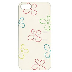 Flower Background Nature Floral Apple iPhone 5 Hardshell Case with Stand