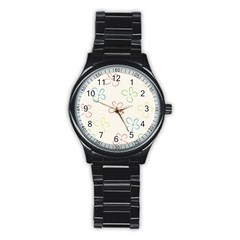 Flower Background Nature Floral Stainless Steel Round Watch