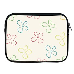 Flower Background Nature Floral Apple iPad 2/3/4 Zipper Cases