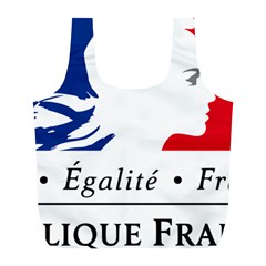 Symbol of the French Government Full Print Recycle Bags (L)