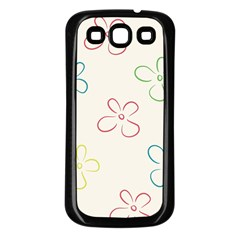 Flower Background Nature Floral Samsung Galaxy S3 Back Case (Black)