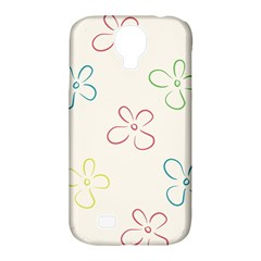 Flower Background Nature Floral Samsung Galaxy S4 Classic Hardshell Case (PC+Silicone)
