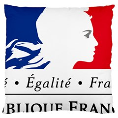 Symbol of the French Government Large Flano Cushion Case (Two Sides)