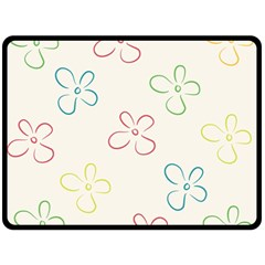Flower Background Nature Floral Double Sided Fleece Blanket (Large)