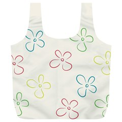 Flower Background Nature Floral Full Print Recycle Bags (L)