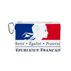 Symbol of the French Government Canvas Cosmetic Bag (S)