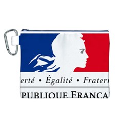Symbol of the French Government Canvas Cosmetic Bag (L)