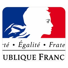 Symbol of the French Government Double Sided Flano Blanket (Small)