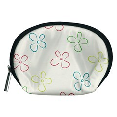 Flower Background Nature Floral Accessory Pouches (Medium)