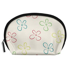 Flower Background Nature Floral Accessory Pouches (Large)