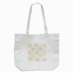 Flower Background Nature Floral Tote Bag (White)